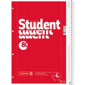 Brunnen Collegeblock DIN A4 Lineatur 28 kariert 80 Blatt Linkshänder