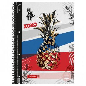 Brunnen Collegeblock A4 RVS kariert Pineapple
