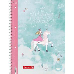 Brunnen Collegeblock Premium A4 liniert Unicorn Princess von vorne