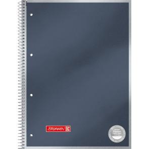 Brunnen Collegeblock Premium Metallic DIN A4 Randlinie innen kariert anthrazit