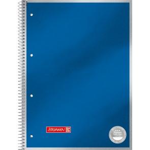 Brunnen Collegeblock Premium Metallic DIN A4 Randlinie innen liniert blaumetallic