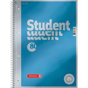 Brunnen Collegeblock Premium Student A4 dotted cyan-metallic