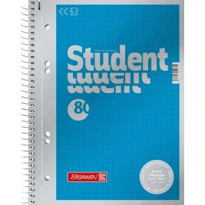 Brunnen Collegeblock Premium Student A5 dotted cyan-metallic