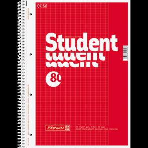 Brunnen Collegeblock Student Lin. 26 DIN A4 kariert rot