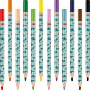 Brunnen Dicke Buntstifte 12er Set Dinosaurier einzelne Stifte