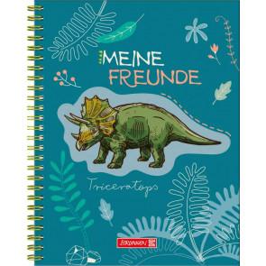 Brunnen Freundebuch Dinosaurier von vorne