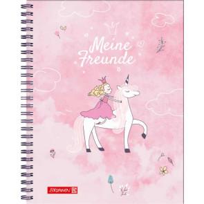 Brunnen Freundebuch Unicorn Princess von vorne