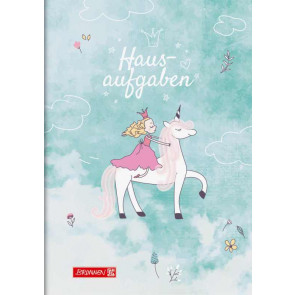 Brunnen Hausaufgabenheft A5 Unicorn Princess