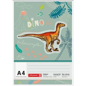 Brunnen Malblock A4 100 Blatt Dinosaurier