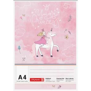 Brunnen Malblock A4 100 Blatt Unicorn Princess