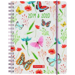 Brunnen Schülerkalender Butterfly A6 2019/20