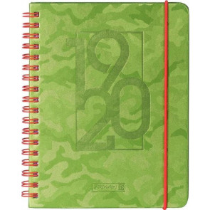 Brunnen Schülerkalender Camouflage grün DIN A5 2019/20