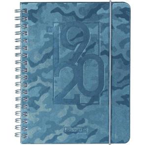 Brunnen Schülerkalender Camouflage grau DIN A6 2019/20