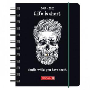 Brunnen Schülerkalender Skull DIN A6 2019/20