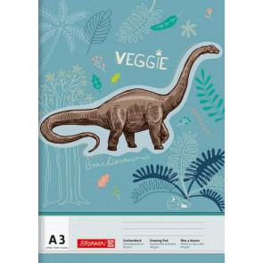 Brunnen Zeichenblock A3 20 Blatt Dinosaurier