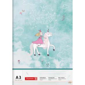 Brunnen Zeichenblock A3 20 Blatt Unicorn Princess