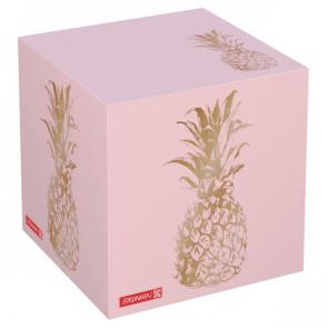 Brunnen Zettelwürfel 600 Blatt Pineapple