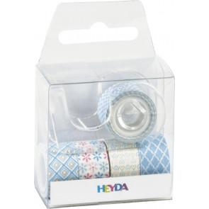 "Heyda Deko Tapes ""Pastell Mini"" jede Rolle 3 m x 12 mm hellblau"