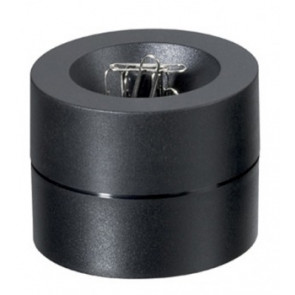 Büroklammerspender von Maul in schwarz magnetisch