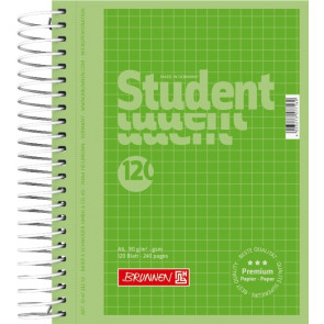 Collegeblock Premium Student Colour Code DIN A6 kariert grün