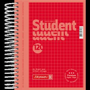 Collegeblock Premium Student Colour Code DIN A6 kariert rot