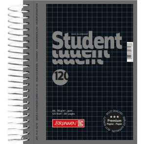 Collegeblock Premium Student Colour Code DIN A6 kariert schwarz