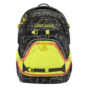 coocazoo LED Neon Pull-Over GuardPart Gelb auf dem Ranzen angezogen
