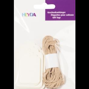Heyda Geschenkanhänger-Set Packung 9,5 x 13,5 cm creme