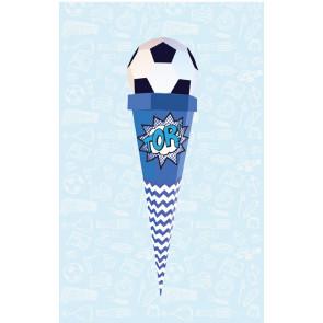 Der Kleine Knick Schultüte Fußball blau-weiß