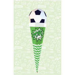 Der Kleine Knick Schultüte Fußball grün-weiß