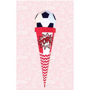 Der Kleine Knick Schultüte Fußball rot-weiß