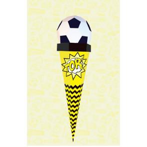 Der Kleine Knick Schultüte Fußball schwarz-gelb