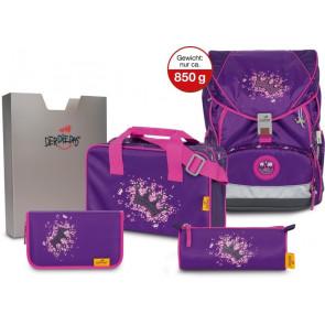 """DerDieDas Schulranzenset ErgoFlex XL """"Purple Princess"""" 5-teilig"""