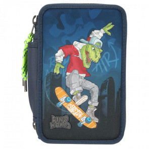 DINO WORLD 3-Fach Federmäppchen Skater | Depesche 11110
