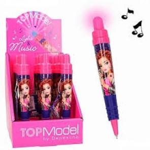 TOPModel Kugelschreiber mit Lichtefekt und Sound pink-blau 3725 || Depesche