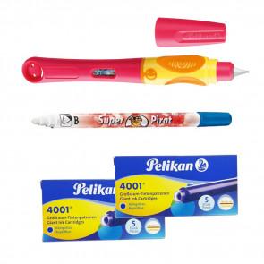 Pelikan Mein 1. Schulfüller Griffix Set Mädchen für Linkshänder