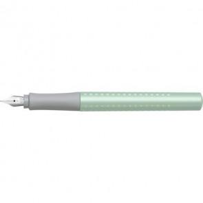 FABER-CASTELL Füller Grip Pearl Edition F Minzgrün