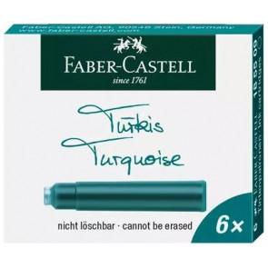 FABER-CASTELL Tintenpatronen Standard, türkis 6Stk