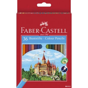 Faber Castell Farbstifte 6-kant ECO dicke Mine 36er Pappetui