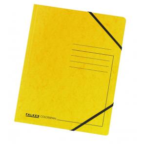 Falken Eckspanner Colorspan DIN A4 mit Gummizug gelb