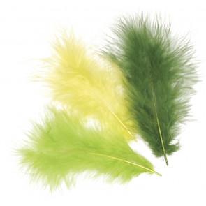 KNORR prandell Marabufedern-Mix ca. 10 cm hellgrün
