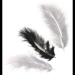 KNORR prandell Marabufedern-Mix ca. 10 cm schwarz