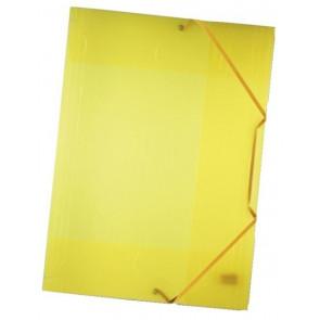 Folia Sammelmappe gelb/transparent DIN A3 mit Gummizug