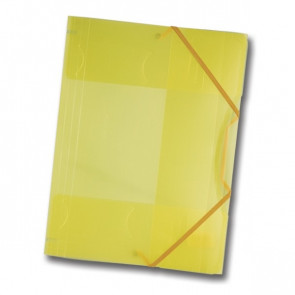 Folia Sammelmappe gelb/transparent DIN A4 mit Gummizug