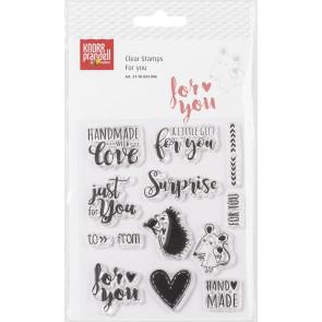 "KNORR prandell Clear Stamp ""For You"" transparent"
