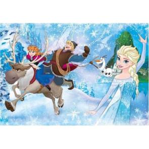 Puzzle Die Eiskönigin Anna & Elsa Frozen 100 Teile extra groß Disney