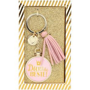 Glamour Schlüsselanhänger Du bist die Beste ! Depesche