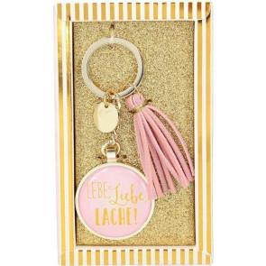 Glamour Schlüsselanhänger Lebe, Liebe, Lache ! Depesche