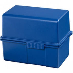 Han Karteikartenbox DIN A5 quer ungefüllt blau 975-14