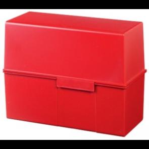 Han Karteikartenbox DIN A5 quer ungefüllt rot 975-17